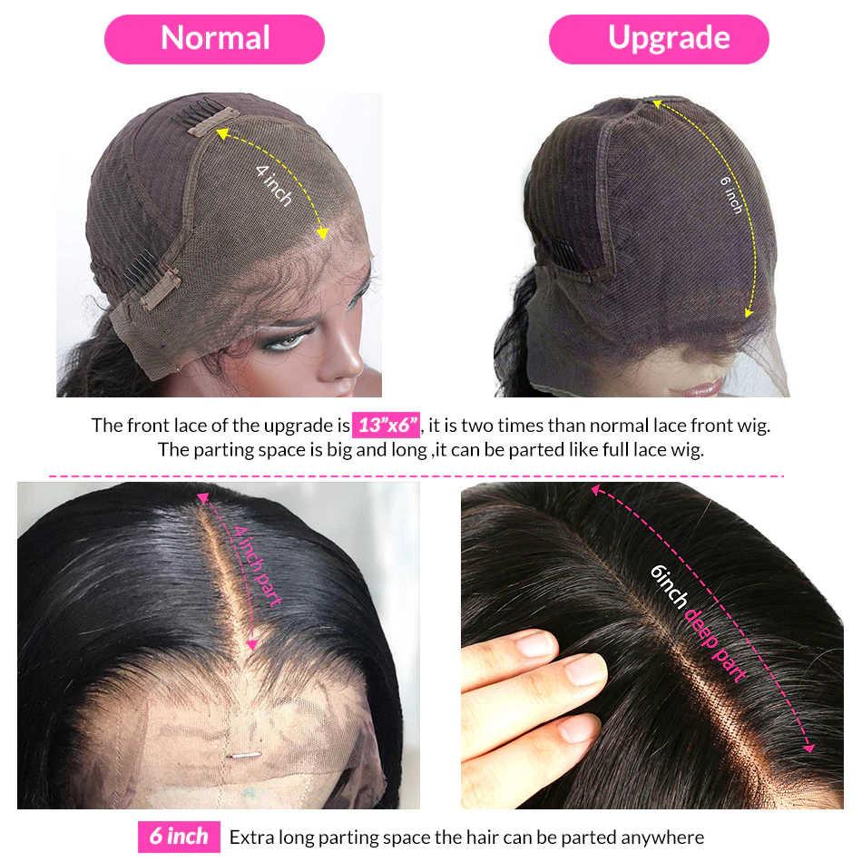 26 28 30 Cal 250 gęstość Glueless 13x6 koronki przodu włosów ludzkich peruka długie brazylijski dziewiczy prosto przednie peruki czarna kobieta pełna