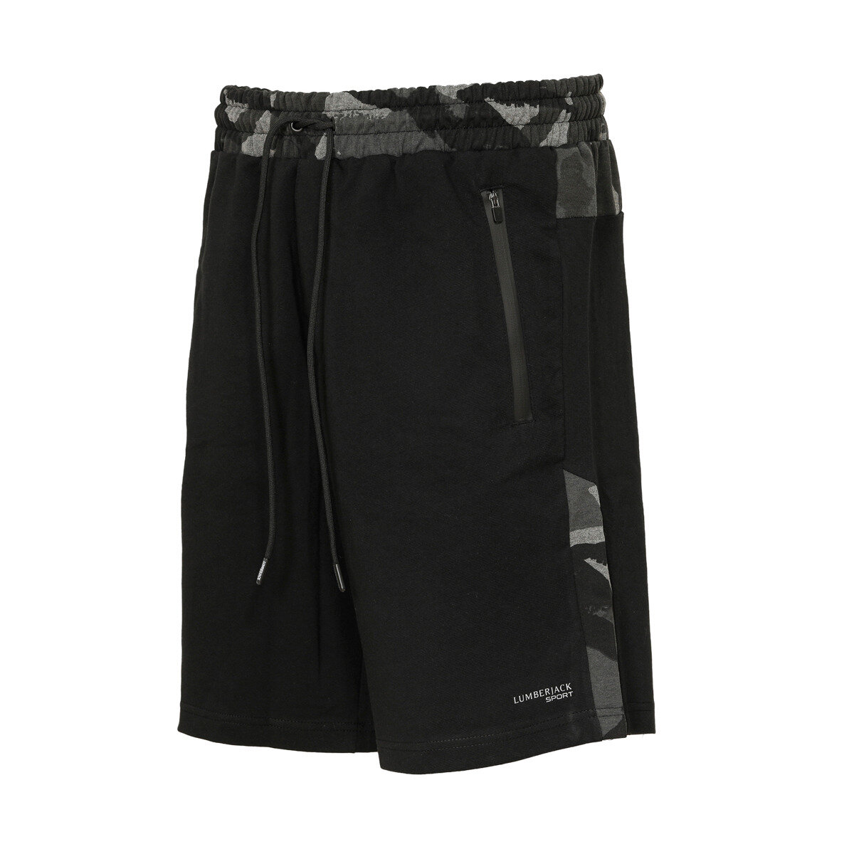 FLO M-1678 ALBERTA SORT Black Male Shorts LUMBERJACK