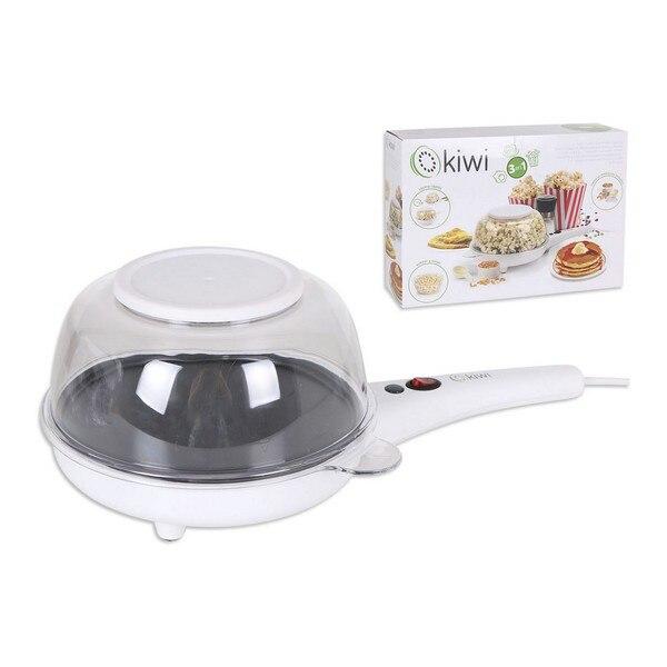 3-in -frying Pan For Popcorn And Pancakes Kiwi KSM-2418 800W White