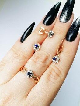 Кольцо Цветок SamoroDki Jewelry ,Серебро 925 пробы, алиэкспресс на русском с доставкой