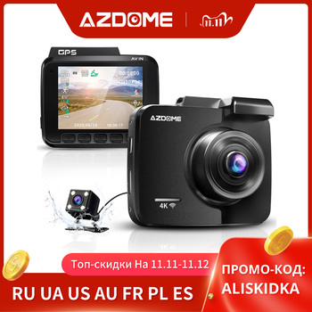 AZDOME GS63H 4K Built in GPS WiFi Dash Cam Dual Lens Car DVRs Recorder Vehicle Rear View Camera Camcorder Night Vision Dashcam image