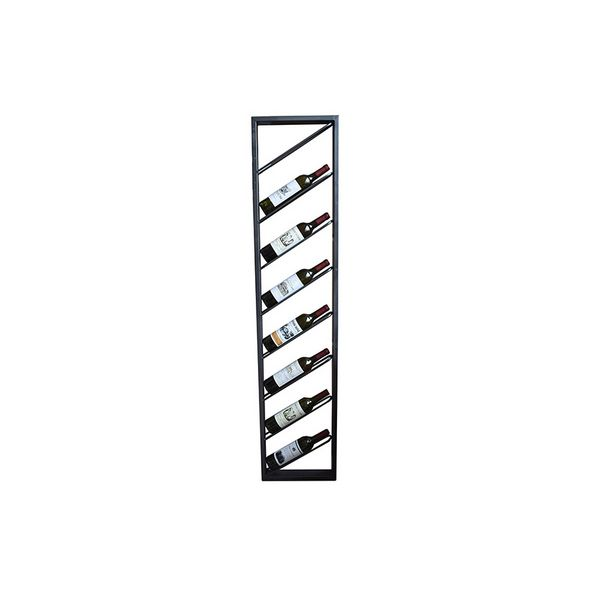 Bottle Rack Metalic Painted Iron (36 X 6 X 160 Cm)