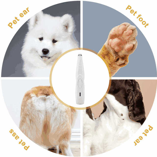 Pet Nail Hair Trimmer Grinder Cat&Dog Grooming Tool Electrical Shearing Cutter USB Rechargeable Dog Haircut Paw Shaver Clipper 5