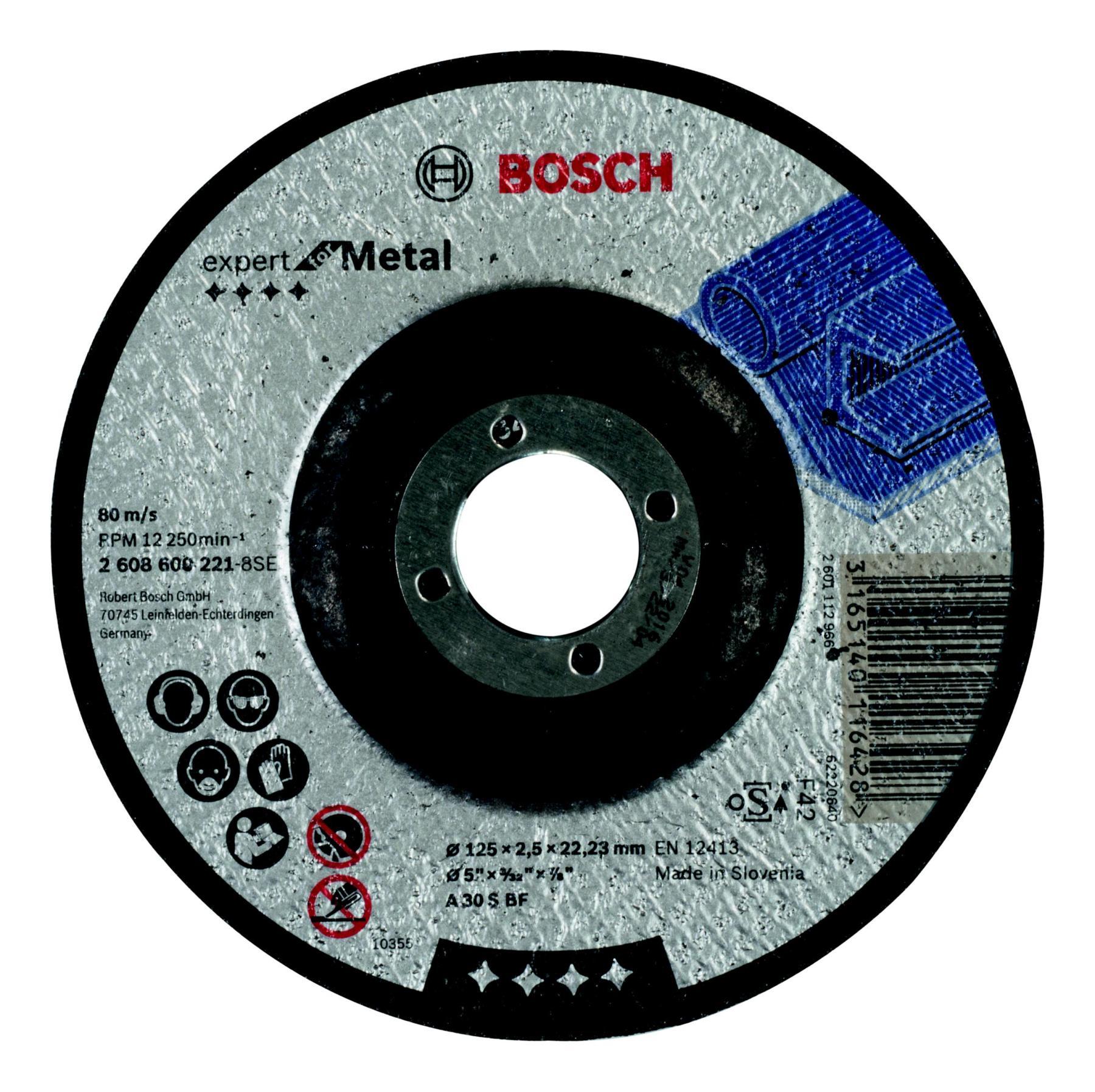 Circle Cutting BOSCH 125х2. 5х22 Expert For Metal (2.608.600.221)