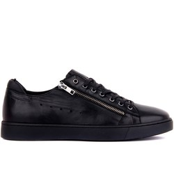 Vela-Lakers Sapatas Dos Homens das Sapatilhas de Couro Genuíno Calçados Casuais Lace-up Zipper Sapatos Masculinos Confortável Respirável sapatos de Caminhada ao ar livre Zapatillas Hombre Tenis Masculino Sapatos Adulto