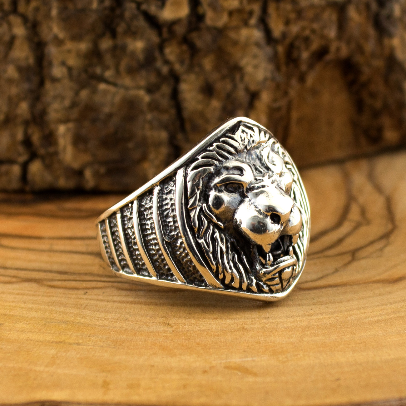 <font><b>925</b></font> <font><b>Sterling</b></font> <font><b>Silver</b></font> Lion Face <font><b>Ring</b></font> <font><b>for</b></font> <font><b>Men</b></font> image