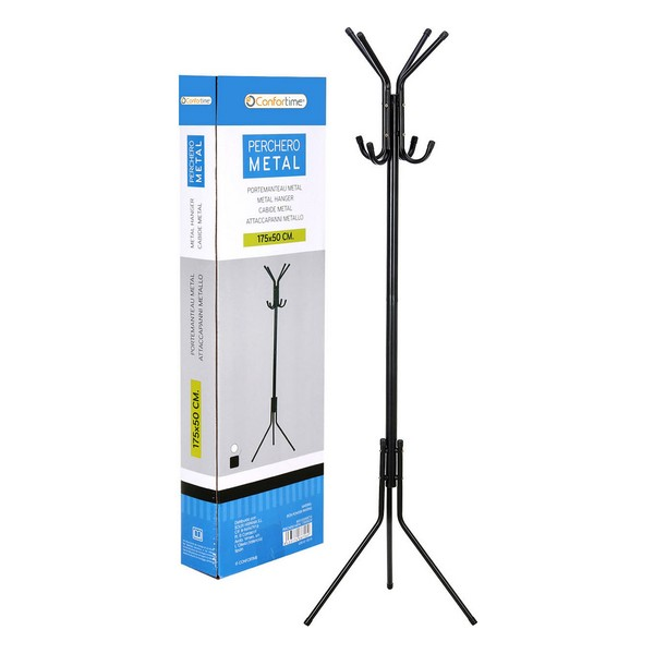 Hat Stand Confortime Metal Black (175 X 50 Cm)