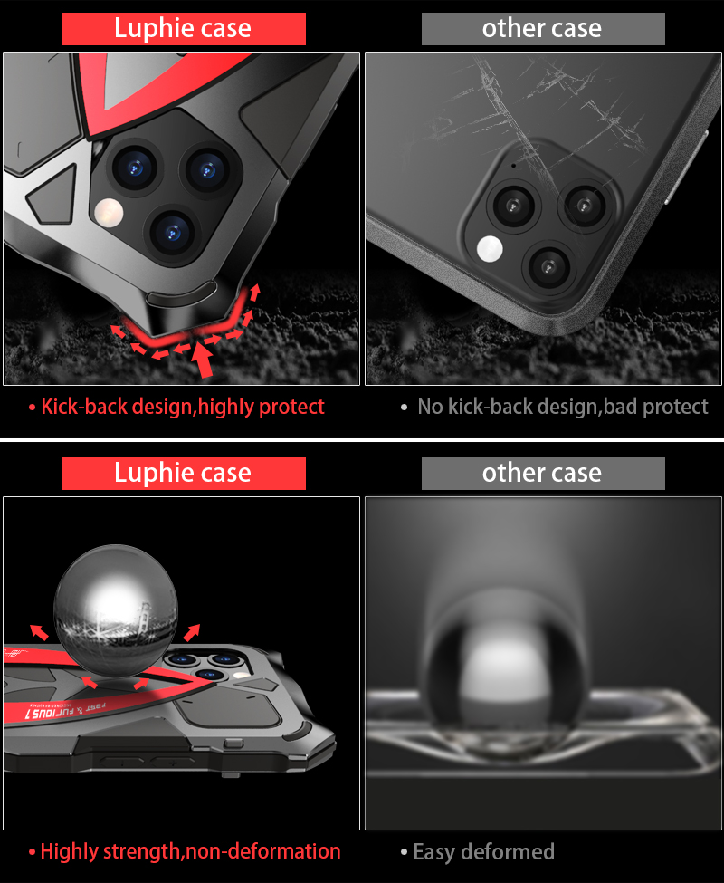 Image 3 - LUPHIE Luxury SportsCar Case For iPhone 11 Pro Max Shockproof Armor Aluminum Case For iPhone X XS Max XR Silicone Cover FundaFitted Cases   -
