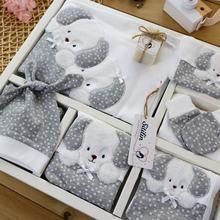 Girl Boy Baby Cute Dog Hospital Outlet Natural Bay Soap 10 Lu Gray Newborn Set 0-3 Months