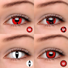 2pcs/pair Color Contact lenses Halloween Cosplay Crazy contact lens for lady Beauty Color Contact Lens Eye