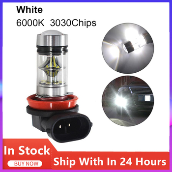 1 Pc Car LED Headlight Bulbs COB High Power 100W Fog Light For H11 H8 Front Fog Driving Light Waterproof Lights Car Accessories image