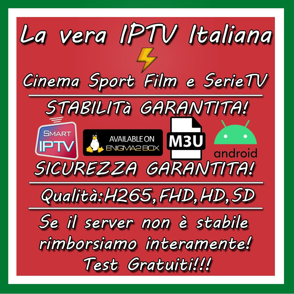 Iptv Italy M3U Free Trial Support Android Ios Smart Tv Mag Pc Enigma2