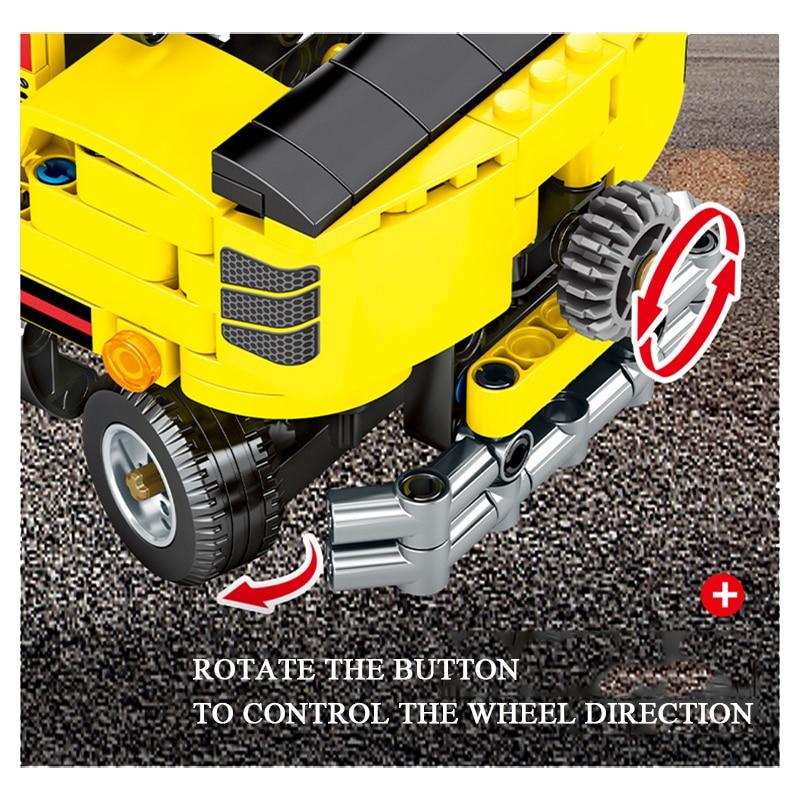 Technic Series Engineering Forklift Kits Model Set Building technic Blocks Bricks Toys For Children Kid Birthday Gifts 1