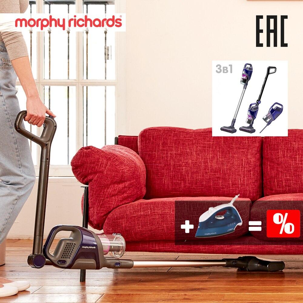 купить Morphy Richards 734050 Handheld Cordless Vacuum Cleaner Portable Wireless Cyclone Filter Carpet Sweep Dust Collector home недорого