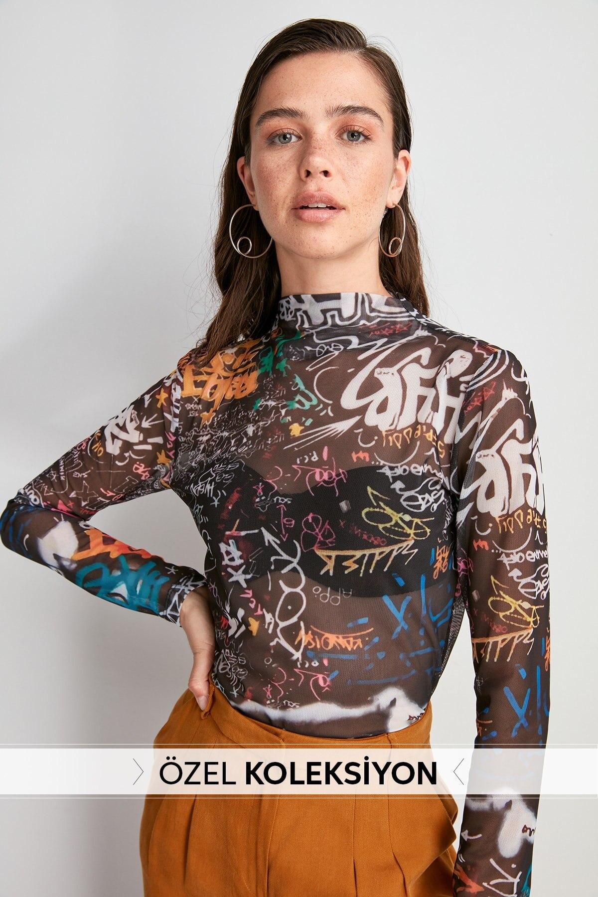 Trendyol Pattern Gauze Knitted Blouse TWOAW20BZ1098
