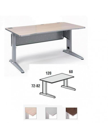 METAL TABLE ROCADA <font><b>120X60</b></font> CM. FIXED STRUCTURE OF ALUMINUM. BOARD IN VARIOUS FINISHES image
