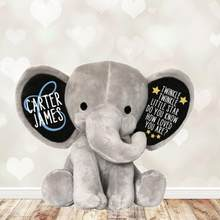 Personalized name Twinkle Little Star Do You Know How Loved You Are, Newborn Gift Keepsake Stuffed Elephant baby shower gift(China)