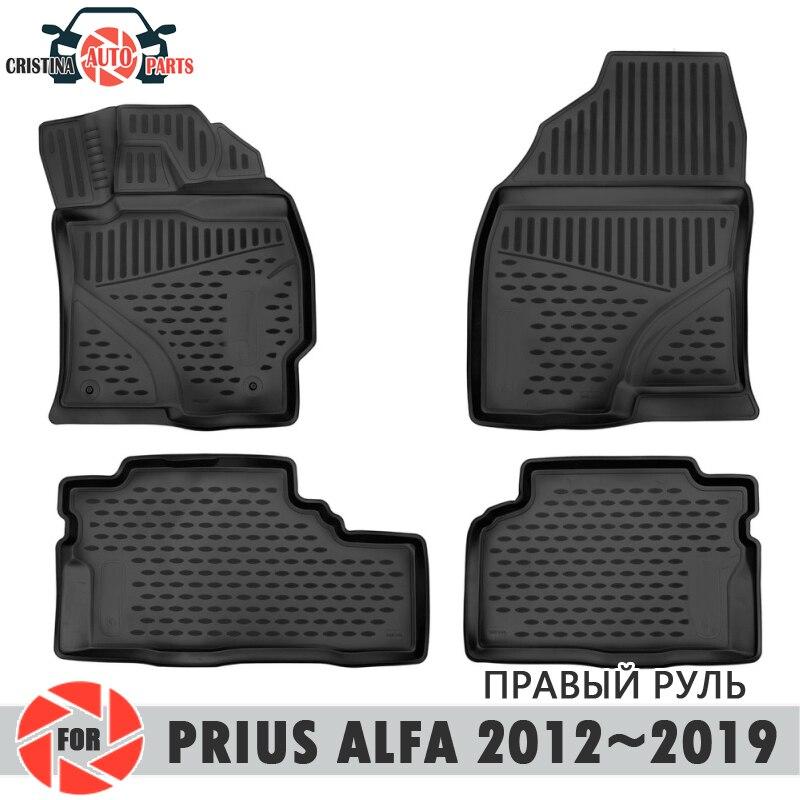 Tappetini per Toyota Prius Alfa 2012 ~ 2019 tappeti antiscivolo poliuretano sporco di protezione interni car styling accessori