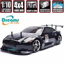 Hsp carro rc 1:10 4wd na estrada rc drift carro 94123pro flyingfish energia elétrica sem escova lipo alta velocidade hobby carro de controle remoto