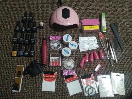Nail Set with LED Lamp photo review