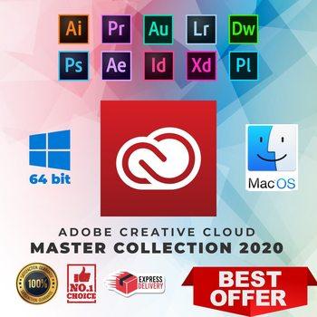 Adobe Creative Cloud 2020 Master Коллекция для Windows и MacOS Originel | Полная версия | Жизненная Активация | ️Многоязычная