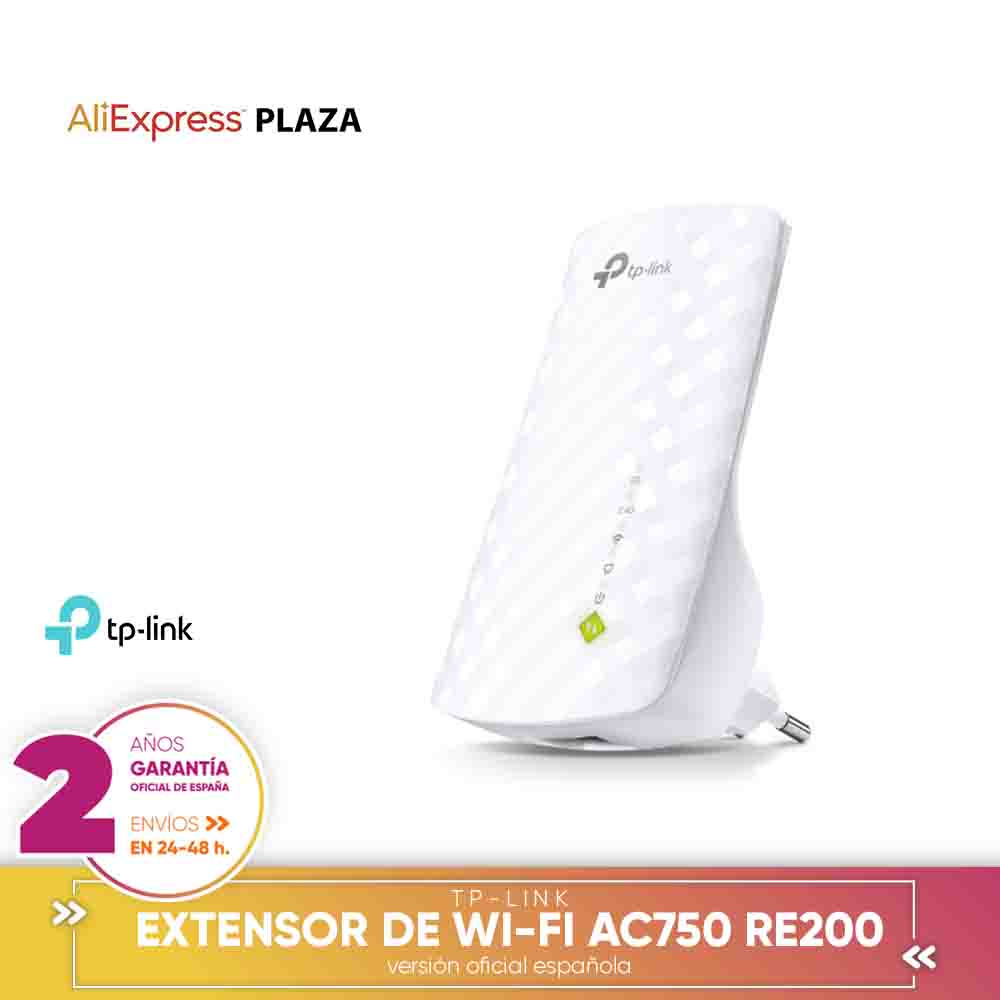 [Official Spanish Version Warranty] TP-LINK Extender Coverage Wi-Fi Universal RE200 AC750 Dual Band Upto 750 Mbps
