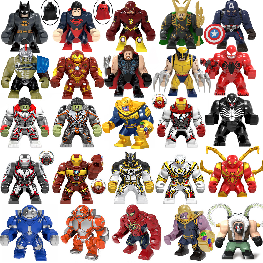 Marvel Avengers Spiderman Hulks Thanos Iron Man Batman Venom Wolverines Building Blocks Figures Sets Toys For Children Gifts