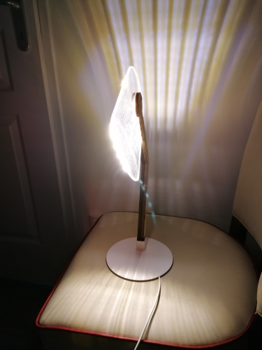 3D LED Desk Lamp Acrylic /Wood Bracket Bedside Decoration Night Light With 1.5M USB Cable Button Switch Bedroom Reading Lamp