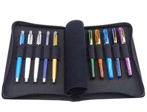 Image 1 - Kaco caneta bolsa caneta caso saco cor preta estilo de negócios 10 bolsos caneta para penbbs hongdian moonman elike escritório escola suprimentos