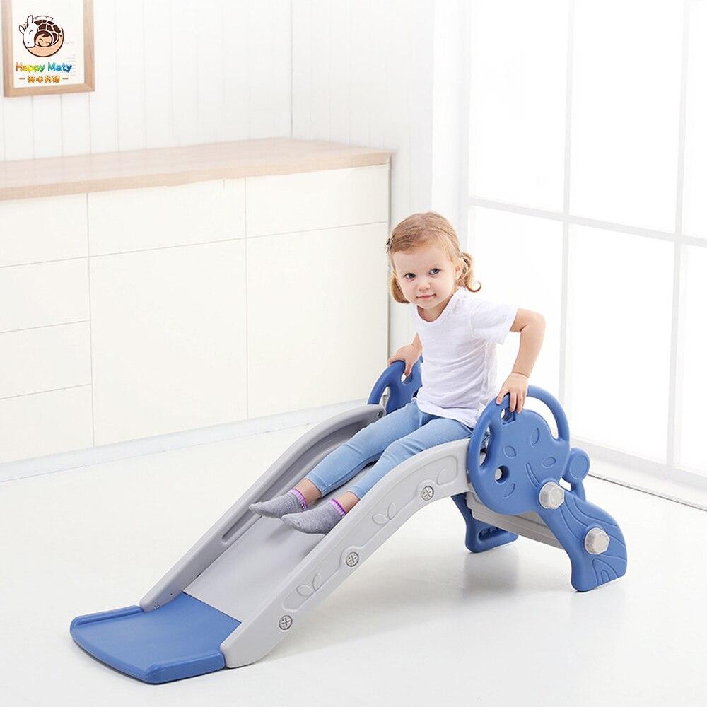 Baby Slide Toys Children Indoor Mini Playground Kids Slide With Basketball Box  Multi-functional Toys Birthday Present For Child