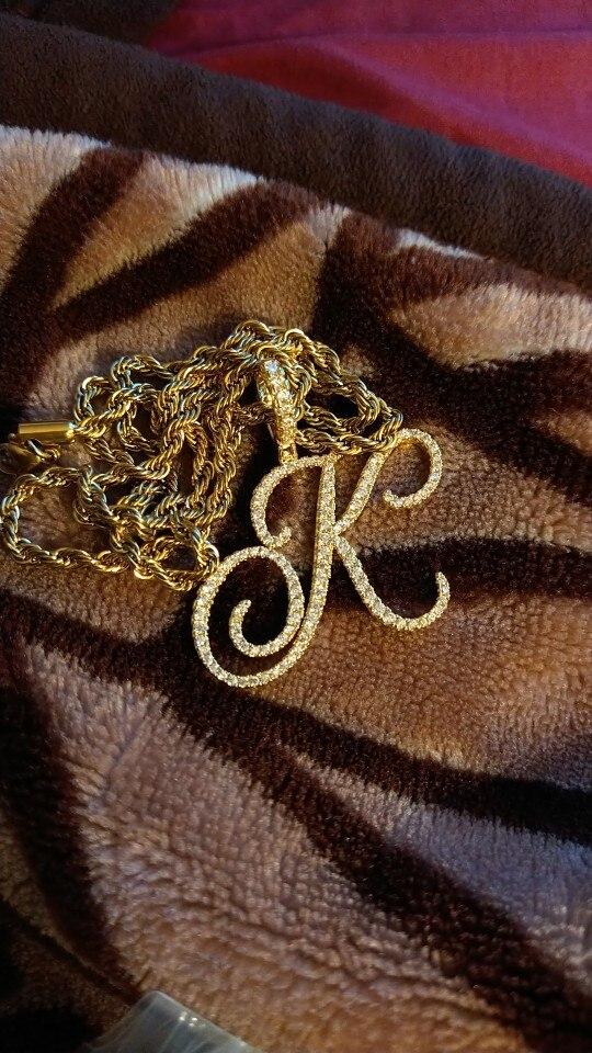 A-Z Cursive Pendant & Necklace photo review