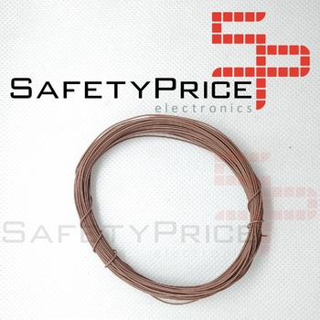 11 metros AWG30 MARRON Cable WRAPPING WIRE COLOR MARRON electronica
