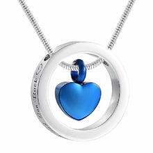 Cremation Jewelry urn Necklace Single  Stainless Steel Care Free Engraving Date or the person