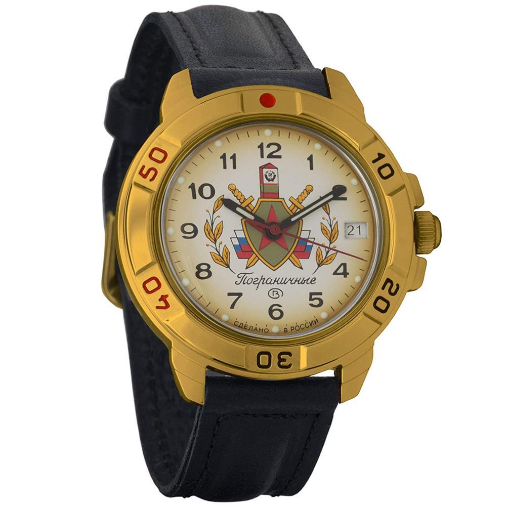 Watch Vostok Komandirskie 439878 Mechanical Hand Winding Border Watch пограничных Troops Russian