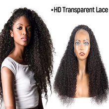 TD Curly Human Hair Wigs HD Transparent Lace Frontal Natural Hairline Wig Brazilian Kinky Curly Pre-Plucked Remy Hair Lace Wigs