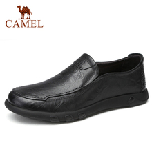 CAMEL Men Shoes  Men Business Casual Big Scalp Cowhide Sets Dad Shoes Non-slip Elastic Resistant Shoes Men