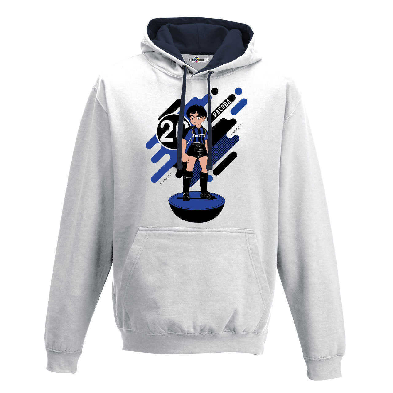 Hood Sweatshirt Bico <font><b>Soccer</b></font> Manga Recoba <font><b>Inter</b></font> <font><b>Milan</b></font> Legend Spoof Subbuteo Holly and Benji S image