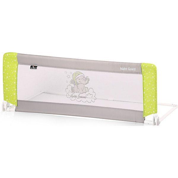 Защитный барьер для кроватки Lorelli Night Guard, зелено-серый