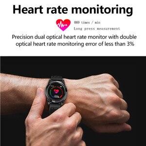 Image 4 - Accalia ساعة ذكية مراقب معدل ضربات القلب للماء الرياضة ووتش سوار ذكي جهاز تعقب للياقة البدنية الذكية الفرقة