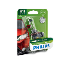 PHILIPS 12362LLECOB1 H11 12 V-55 W (PGJ19-2) (увелич. Service life) LongLife Ecovision blister card (1 pc) 34216