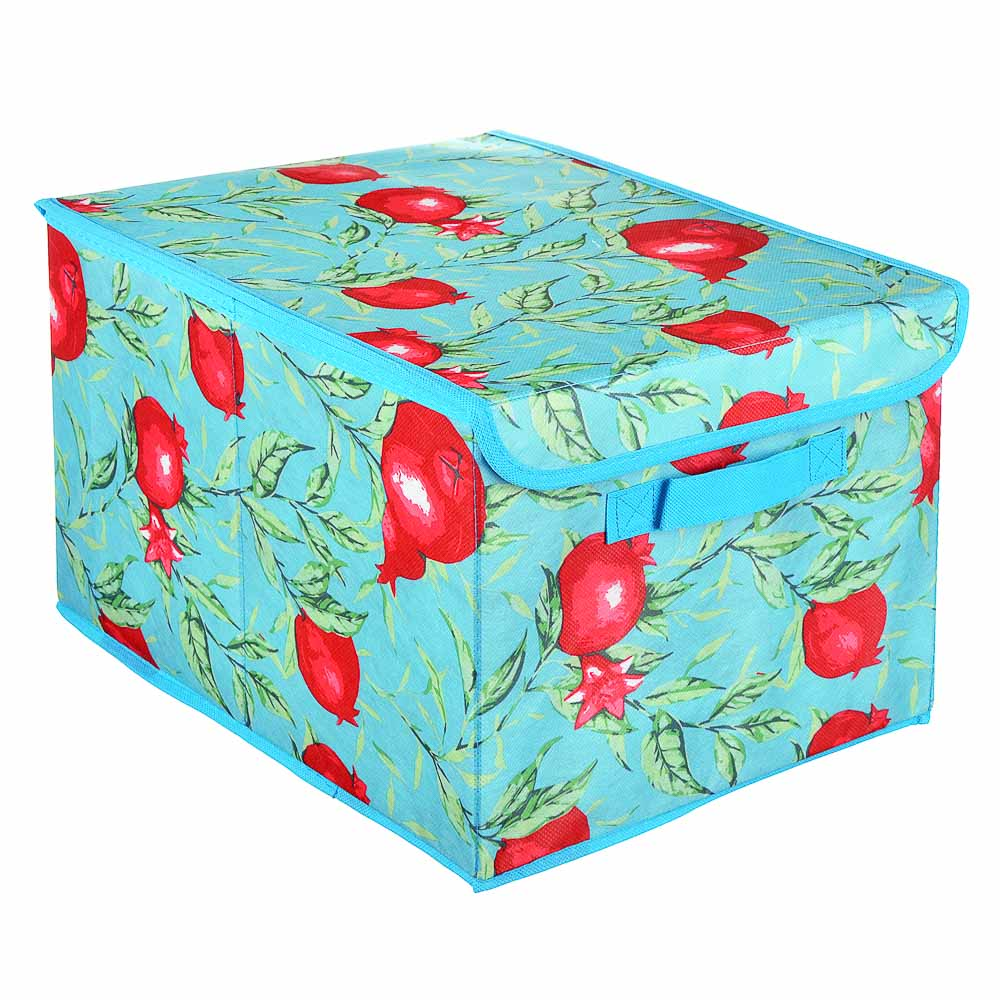 "STORAGE DRAWER WITH VETTA ""GRANATE"" COVER, 30X40X25 CM, SPANBOND CONVENIENT COLORFUL BEAUTIFUL BEAUTIFUL BOX OF STORAGE"