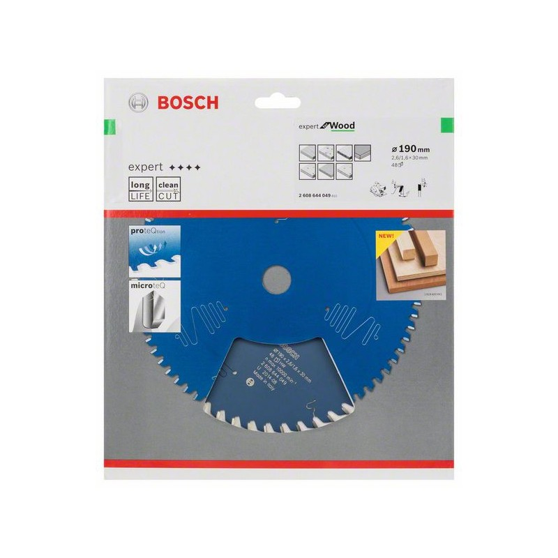 BOSCH-circular Saw Blade Expert For Wood 190x30x2,6mm 48
