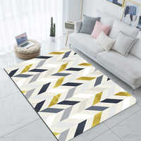 Sonst Grau Gelb Marmor Skandinavischen Geometrische 3d Print Non Slip Mikrofaser Wohnzimmer Dekorative Moderne Waschbar Bereich Teppich Matte