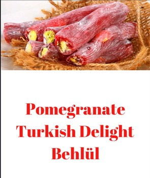 Pomegranate Behlül Turkish Delight 100 Handmade Luxury Vegan Full Pistachio Turkish Delight Healthy Gourmet 700 G