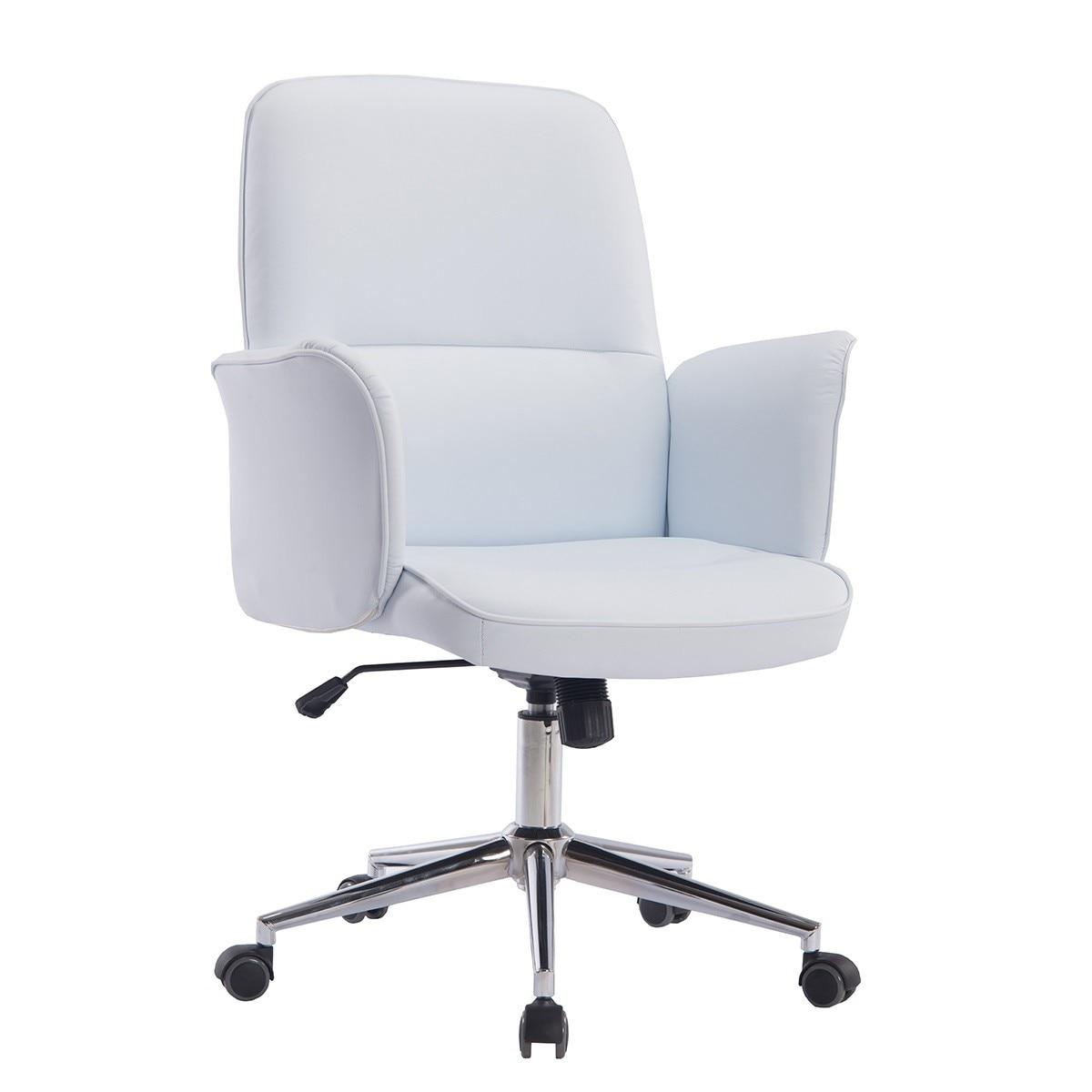 Office Armchair ANCONA, Gas, Tilt, Similpiel White