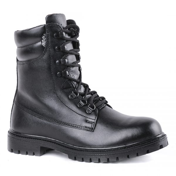 Demiseason Genuine Leather Lace-up Black Army Ankle Boots For Men Fashion High Shoes Flat Military Boots 0066/11 WA