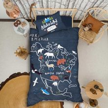 Organic %100 Cotton Duvet Cover Quilt Single Bed Linen Bed Sheet Pillowcase Kids Boy Girl Nordic Edredon постельное