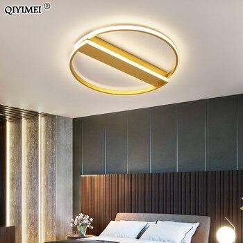 Золотая люстра, современный светильник для спальни, гостиной, новый белый, черный светильник, роскошный светодиодный светильник для помеще...