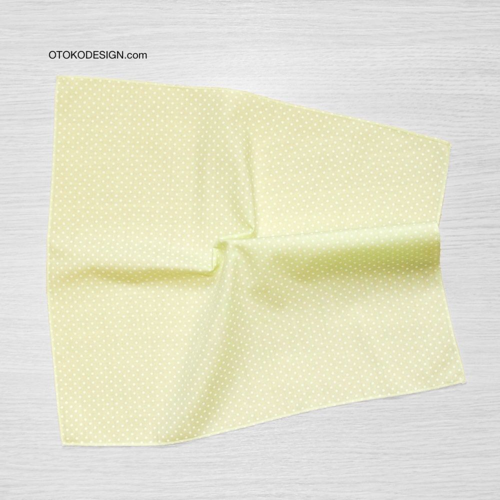 Pocket Square In A Jacket Pocket Green White Polka Dot (51819)