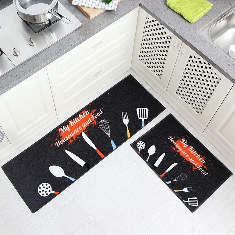 바닥 물 흡수 카펫에 대 한 인쇄 된 안티-슬립 롱 매트 홈 입구 현관 매트 주방 가제 거실 바닥 매트